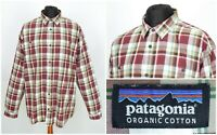 Mens Patagonia Organic Cotton Long Sleeve Shirt Multicolored Size XXL / 2XL
