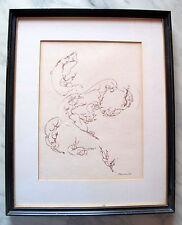 Fine Art Original Ink Female Signed Drawing by Tony Marra