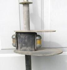 Vintage MarineTug Boat Wheel Pilot House Light Mast Nautical Decor or Use