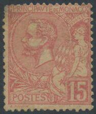 1891-1894 MONACO N°15*, Prince Albert 1er, COTE 250€, Déf., MH