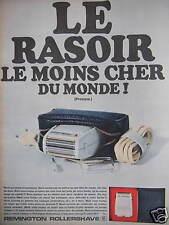 PUBLICITÉ REMINGTON ROLLERSHAVE LE RASOIR LE MOINS CHER DU MONDE