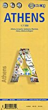 NEW 2007~MAP OF ATHENS~Borch, w/Acropolis & Mycenae Details,TopSights, Metro Map
