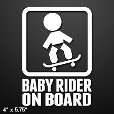 Baby Rider On Board (Skateboard) Vinyl Decal Sticker