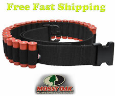 Shotgun Shell Belt by Mossy Oak - Holds 25 Rounds Shotgun Ammo - 12g / 20g Black