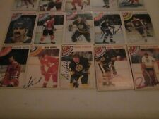 LOT OF 99 DIFFERENT AUTOGRAPHED VINTAGE 1970'S HOCKEY CARDS-NO DUPES-STARS