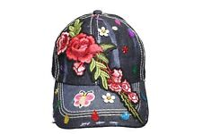 ROSE BRANCH With Decoration Elements  Denim HAT CAP ..For Teens & Adults..  New