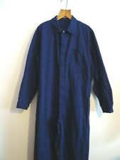 Vtg blue cotton Hbt overalls jump boiler suit work chore pants coveralls