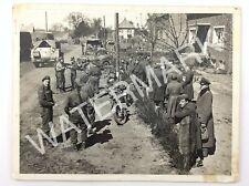 1945 Roadside Germany Real Photo WWII Meppen Italian POW Canadian Army Q967