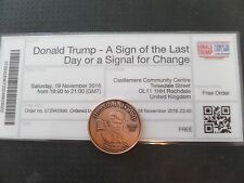 DONALD TRUMP- A SIGN OF THE LAST DAY OR SIGNAL FOR CHANGE, U.K., 11-16, TIC+COIN