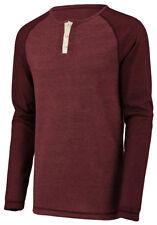 Augusta Sportswear Men's Linear Fusion Long Sleeve Crewneck Henley T-Shirt. 2150