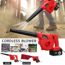 220V Electric Cordless Leaf Blower Lawn Yard Suction Sweeper Vacuums+Li-ion