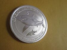 2014 1/2 oz   Australian .999  Silver Great White Shark Coin BU