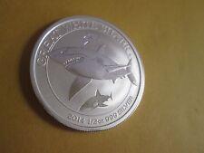 2014 1/2 oz   Australian .999  Silver Great White Shark Coin BU