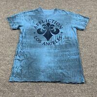 Affliction Men's Short Sleeve T-Shirt Medium Adult Graphic Tee Factory Distress