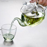 Clear Heat Resistant Glass Teapot 350ML Infuser Coffee Tea Set Home Office Gifts