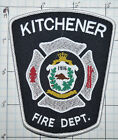 CANADA, KITCHENER FIRE DEPT WOVEN PATCH