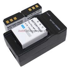 Charger +3x 1700mAh Battery for Fuji NP-85 NP85 FinePix SL240 SL260 SL280 SL300