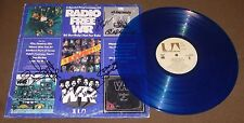 WAR FUNK BAND SIGNED by 5 RADIO FREE WAR RECORD ALBUM BLUE VINYL 1974 w/ PROOF!
