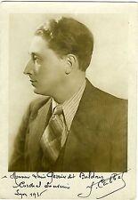 PHOTO Gilletta Nice dédicacée Calbet à Louis Perrier Lyon 1935
