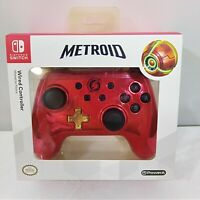 New Nintendo Switch Metroid Prime Samus Red and Gold Chrome Wired Controller