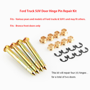 Ford F150 F250 F350 Bronco Door Hinge Pins Pin Bushing Kit