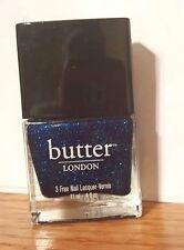 "Butter London 3 Free Nail Polish ""Big Smoke"" (metallic navy) NEW! Full Size!"