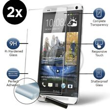 2X TWO - HTC ONE M9 Quality Genuine 100% Tempered Glass Screen Protector
