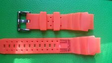 WATCH BAND BRACELET MONTRE***PVC   ***orange  **20mm***  REF CM18