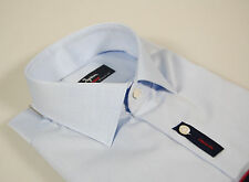 Camicia Moda Ingram Slim Fit Celeste cotone no stiro Cottonstir Taglia 43 XL