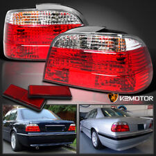1995-2001 BMW E38 750IL 740I 7 Series Euro Red Clear Tail Lights Left+Right