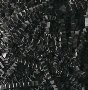 BLACK RECYCABLE ZIGZAG SHREDDED PAPPER ACID FREE HAMPER GIFT PACKAGING FILLER UK
