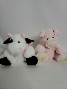 2009 Cute Plush Hand Puppets Cow And Pig 10 inch