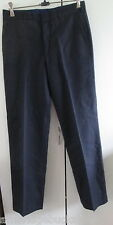 Work Issue Pants Trousers Navy Blue Waist 81cms Never Worn Side Pockets