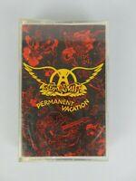Vintage 1987 Aerosmith Permanent Vacation Cassette Tape Hard Rock Glam Metal