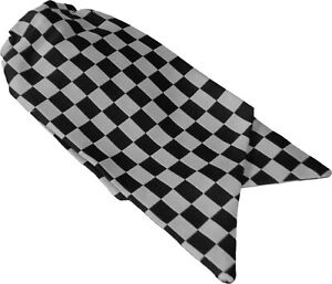 Genuine Ladies Police Clip On Cravat Black and White Check