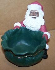 New Large Christmas  African American Santa Candy Tray Dish