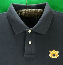 VINEYARD VINES men's polo golf shirt L large AUBURN UNIVERSITY orange whale AU