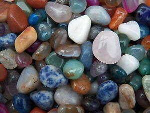 1000 Carat Lots of Size #4 Tumbled Polished Gemstones + A FREE Faceted Gemstone