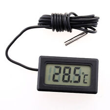 1Pc New LCD Display Electronic Fish Tank Water Detector Thermometer Aquar Gifts