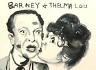 Barney Fife Thelma Andy  ACEO ATC original Card  miniature collectible Painting