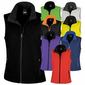 Result Ladies Full Zip Sleeveless Printable Softshell Bodywarmer Breathable TOP