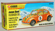 CUSTOM MADE DISPLAY BOX ONLY FOR CORGI JUNIORS 1010 OHMSS VOLKSWAGEN BEETLE 1500