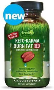 Keto-Karma Burn Fat RED by Irwin Naturals, 72 softgels