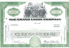 THE GRAND UNION COMPANY STOCK CERTIFICATE 8 SHARES 1962 AU-UNC
