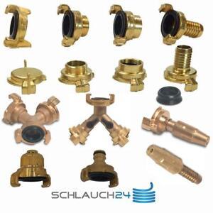 Messing Schlauchkupplung Schnellkupplung Schlauchverbinder Geka Systemkompatibel