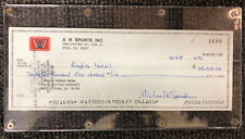 RAGHIB ISMAIL SIGNED CHECK 1991 $62,500