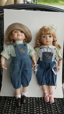 """Haunted Dolls Lenore and Larry Brother and Sister Pair 14-1/2"""" just adorable"""
