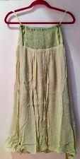 Snidel Japanese Women's Sleeveless One-tube Maxi Skirt ChIffon Dress-Green