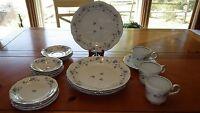 Johann Haviland Blue Garland Dinnerware set 19 piece set of NWOT missing 1 cup