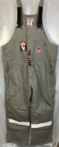 NWT WALLS FR CERTIFIED NFPA 70E BIB OVERALLS GRA, XXL 2XL, TALL INSULATED  HNG1